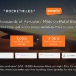 「ロケットマイルズ」初回ホテル予約でエアカナダ「アエロプラン」3,000マイルプレゼント!