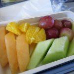 チャイナエアラインで特別機内食のフルーツプレートを頼んでみたので。