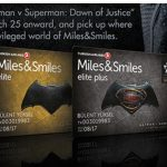 トルコ航空、映画「バットマンvsスーパーマン」特別仕様のFFPカードを発行へ。既存会員も申込可の様子